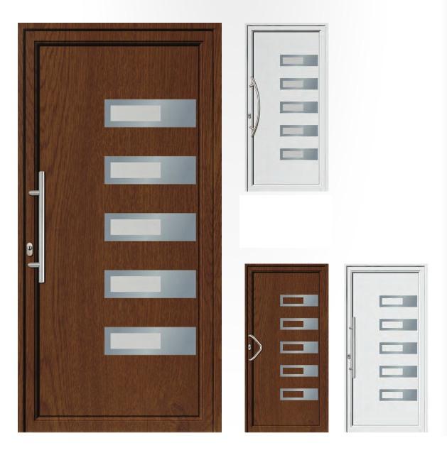 Porta d'ingresso in PVC | noce / bianco
