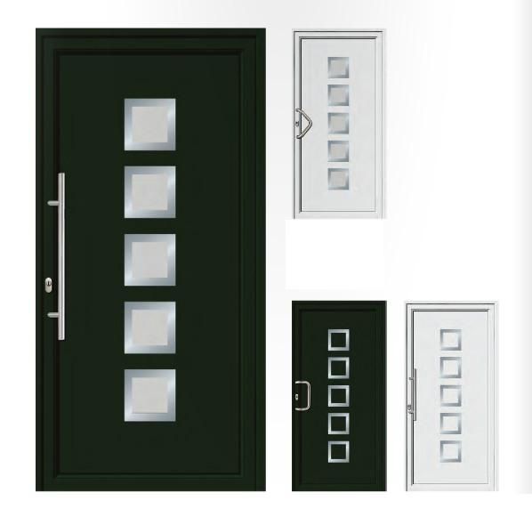Porta d'ingresso in PVC | verde / bianco