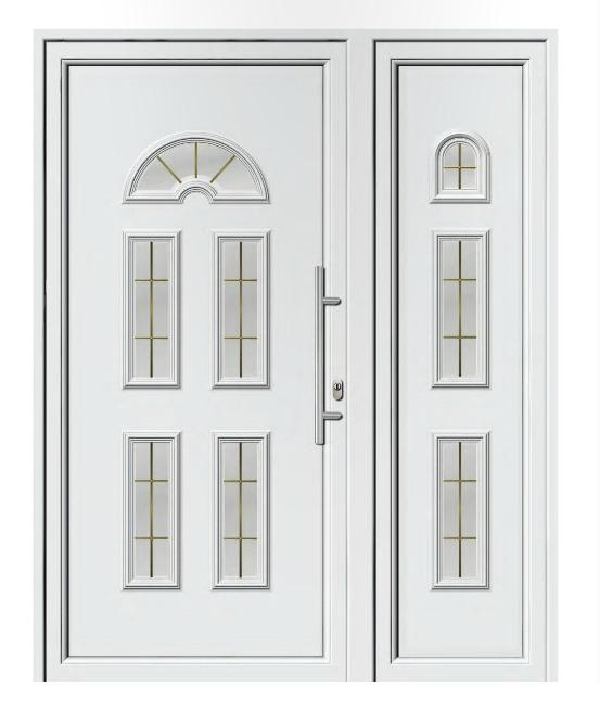 Porta d ingresso in pvc bianco linea classica ligurgo for Ingresso casa classica