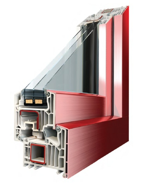 Profilo finestra in PVC 6 stars