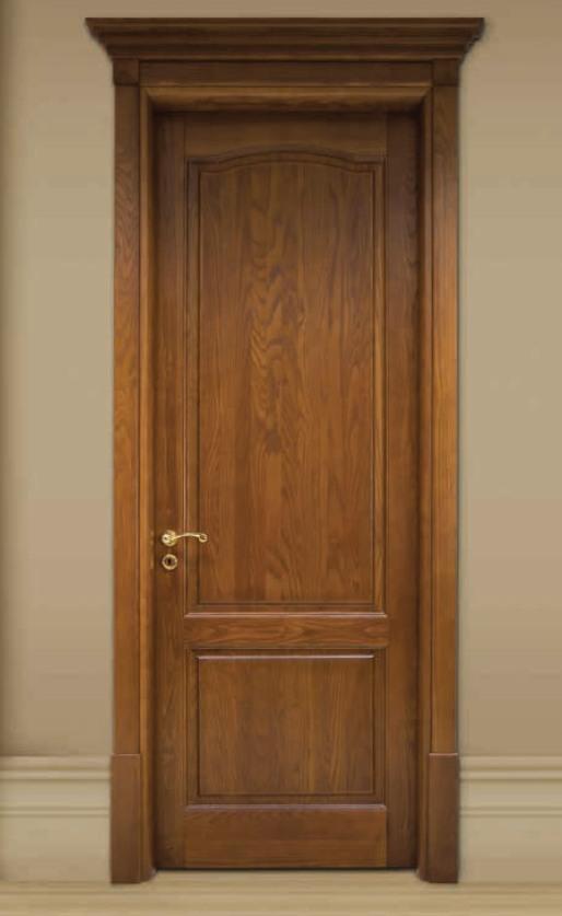 Porta per interni in legno   noce antico