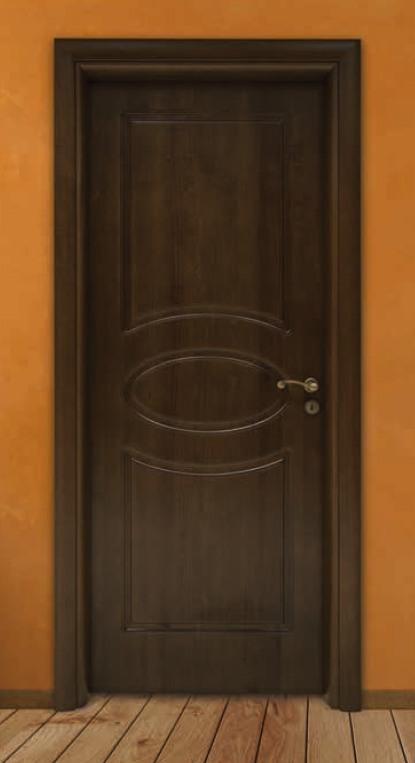 Porta per interni in legno noce scuro ligurgo infissi - Porte va e vieni per interni ...