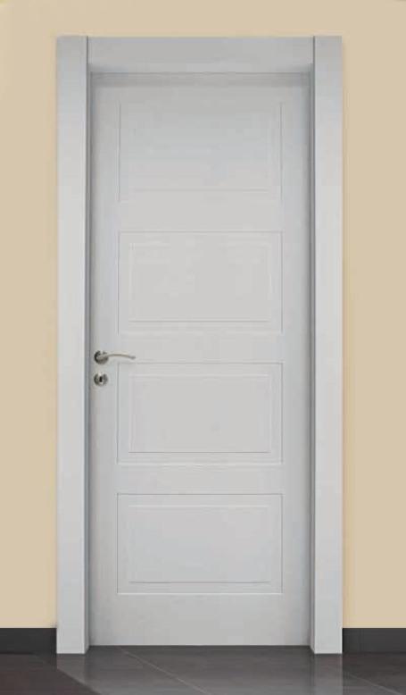 Porta per interni in legno laccato bianco ligurgo infissi for Infissi in legno bianco