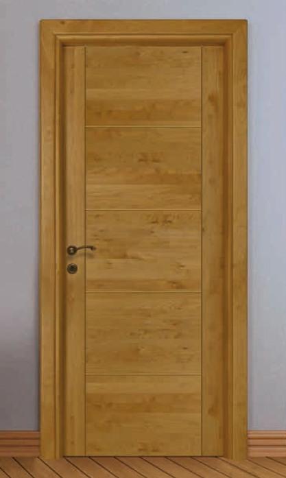 Porta per interni in legno noce chiaro ligurgo infissi - Porte noce chiaro ...