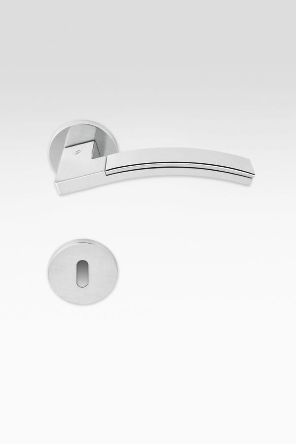 Maniglia curva| argento