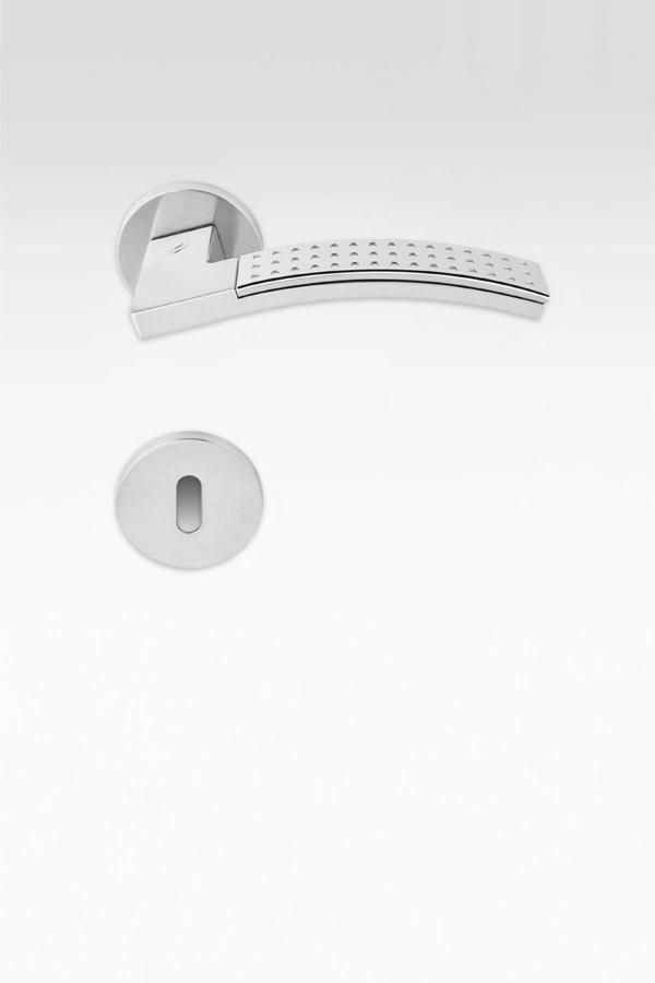 Maniglia puntinata | argento