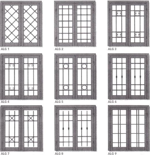 Realizzazioni in ferro grate vari modelli ligurgo infissi - Modelli di grate per finestre ...