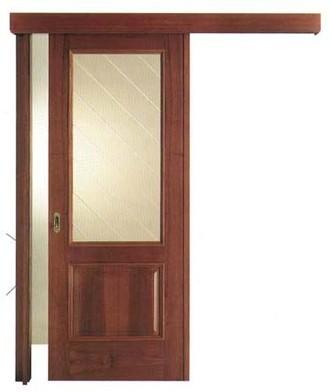 Porta interna in laminato| noce con vetri