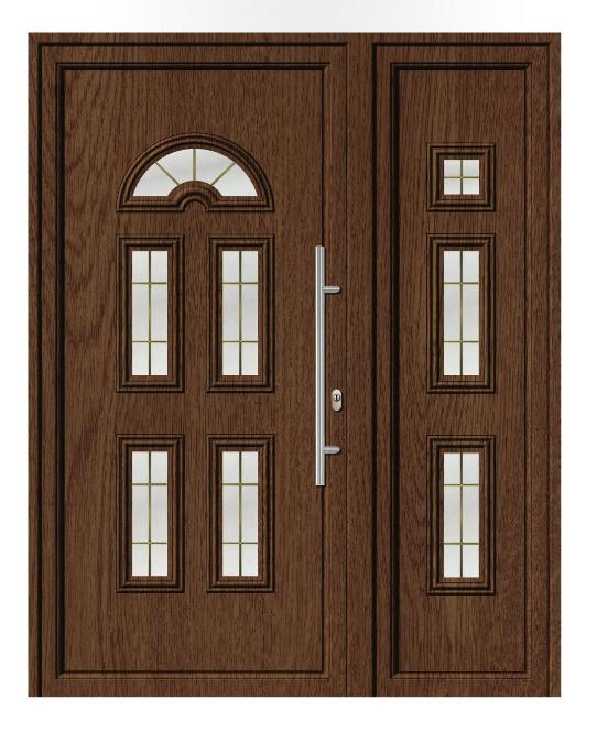 Porta d'ingresso in PVC | noce, linea classica