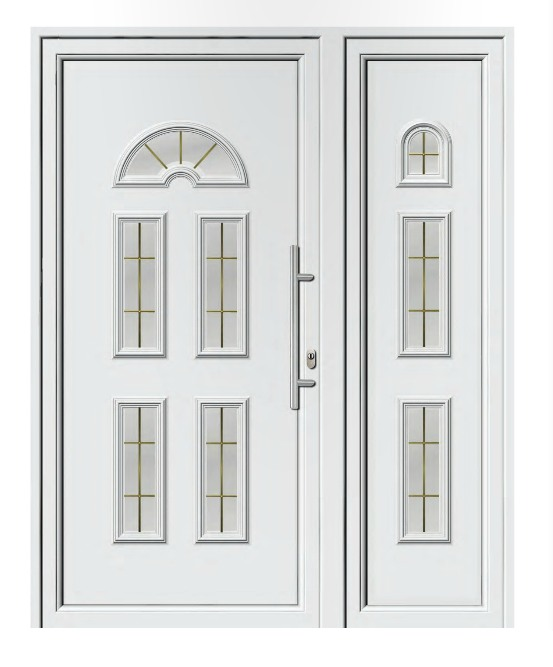 Porta d'ingresso in PVC | bianco, linea classica