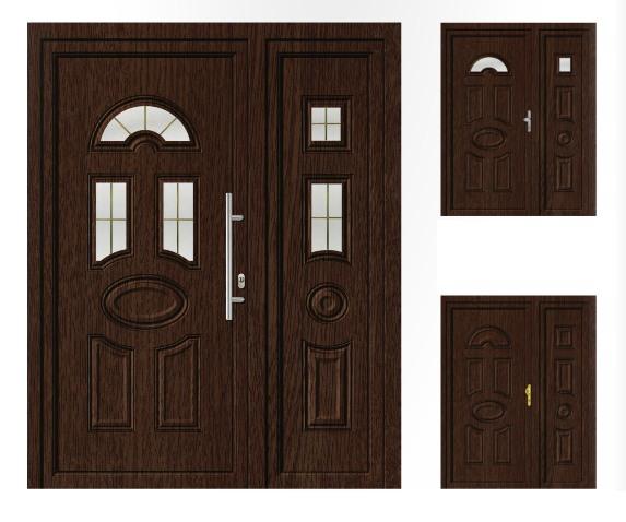Porta d'ingresso in PVC | rovere, linea classica