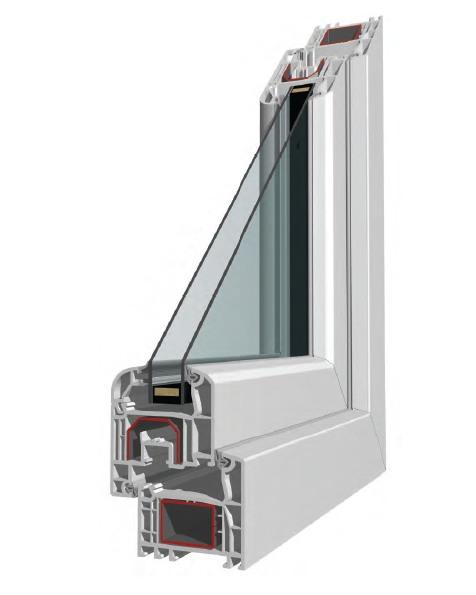 Profilo finestra in PVC 4 stars