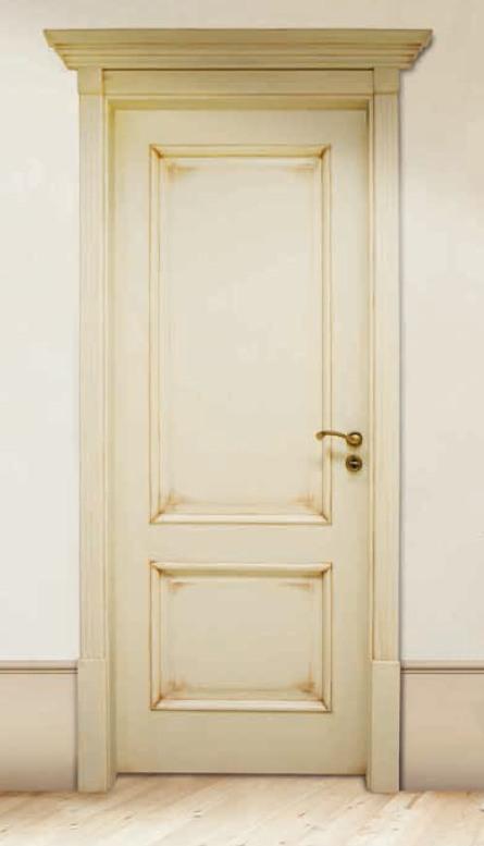 Porta per interni in legno | avorio anticato