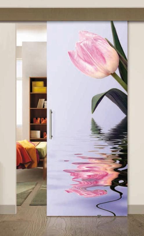 Porta per interni in vetro   tulipano