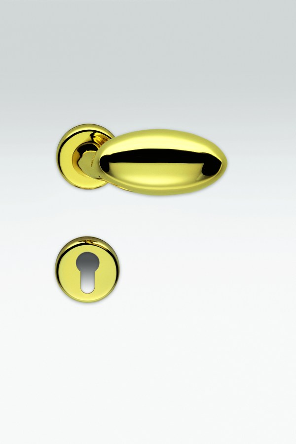 Maniglia ovale   oro