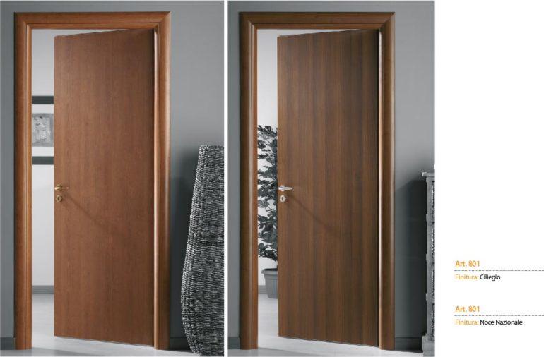 Porta interna in laminato| noce e ciliegio