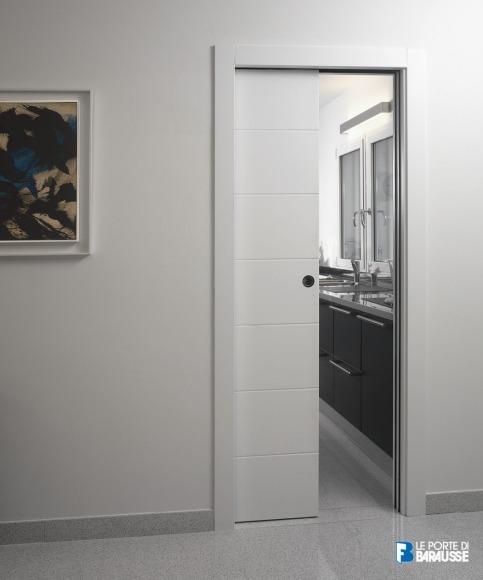 Porta interna in laminato| bianco scorrevole