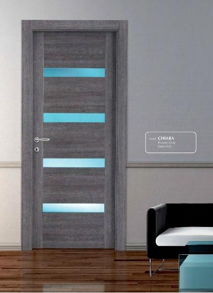 Porta interna in laminato| gray con vetri