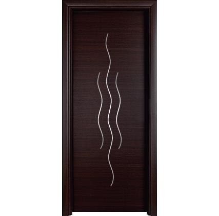 Porta interna in laminato| wengè con brillantini