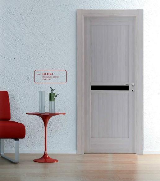 Porta interna in laminato| bianco con vetri