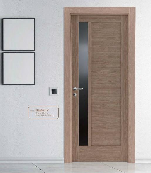 Porta interna in laminato| rovere chiaro con vetri
